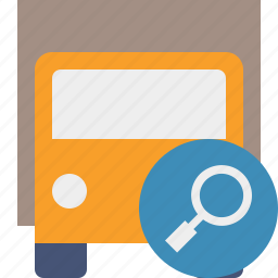 delivery, search, transport, transportation, truck, vehicle icon