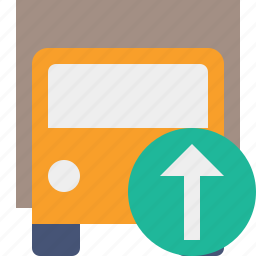 delivery, transport, transportation, truck, upload, vehicle icon