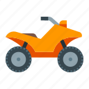 atv, off-road, quadrocycle, racing, safari, travel, vehicle icon