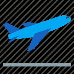airplane, airport, aviation, flight, plane, take off, takeoff icon