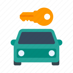 auto, car, car rental, key, rental, transport icon