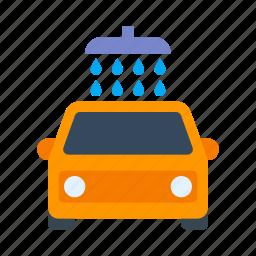 car service, car wash, car washing icon