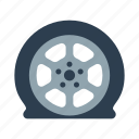 flat, tire, tire service, wheel icon