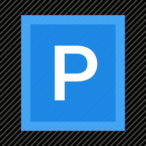 garage, parking, sign icon