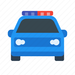 car, flasher, guard, police, protection, secure, security icon