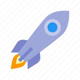 rocket, space, spaceship, speed icon