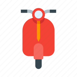 bike, delivery, motorbike, motorcycle, scooter, travel, vespa icon