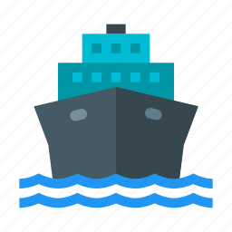 boat, cruise, liner, sea, ship, transport, water transportation icon
