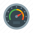 dashboard, gauge, meter, odometer, speed, speedometer icon