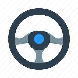 car, steering, wheel icon