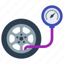 car, flat tire, repair, tire, tire pressure, tire service, wheel icon