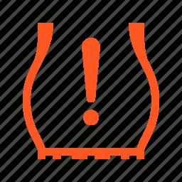 car, compress, tire pressure, wheel icon