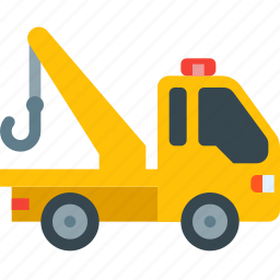 delivery, evacuation, tow, towing, transport, transportation, truck icon