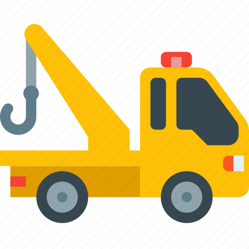 cargo, delivery, evacuation, tow, towing, transportation, truck icon