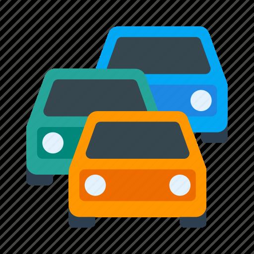 car, congestion, jam, queue, road, traffic, transport icon
