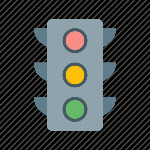 crossroad, light, road, traffic, traffic jam, transport, transportation icon