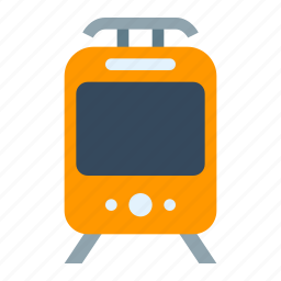 public transport, subway, train, tram, tramway, transport, transportation icon