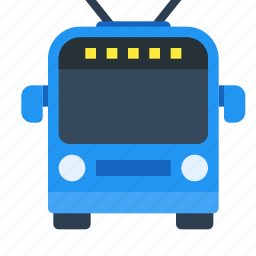 bus, electric, green tech, public, transport, trolleybus, vehicle icon
