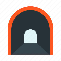 road, tonnel, tunnel icon