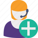 add, support, help, new, service icon