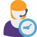 clock, support, help, service icon