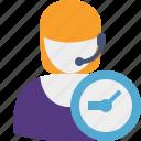 clock, support, help, service