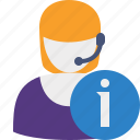 information, support, help, service icon