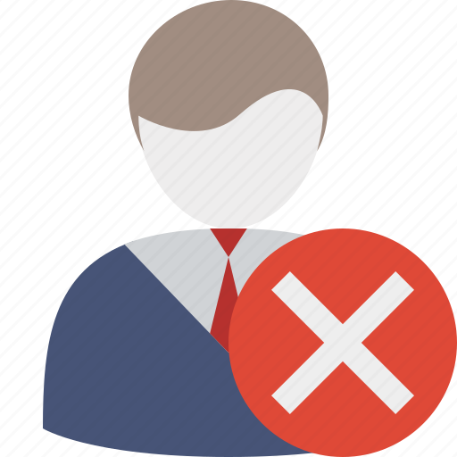 business, cancel, client, delete, office, user icon