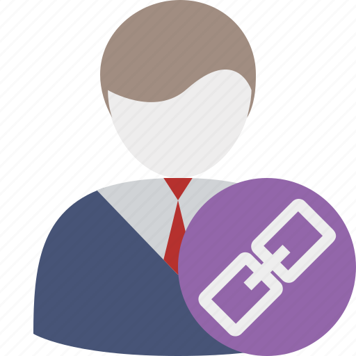 account, business, client, link, office, user icon