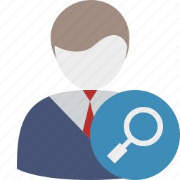 business, client, office, search, user icon