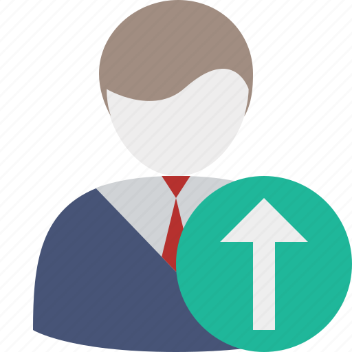 account, business, client, office, upload, user icon