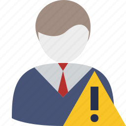 account, business, client, office, user, warning icon