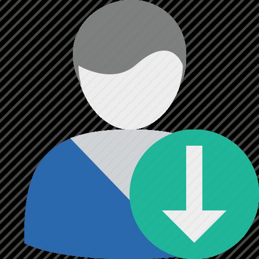 account, download, male, profile, user icon
