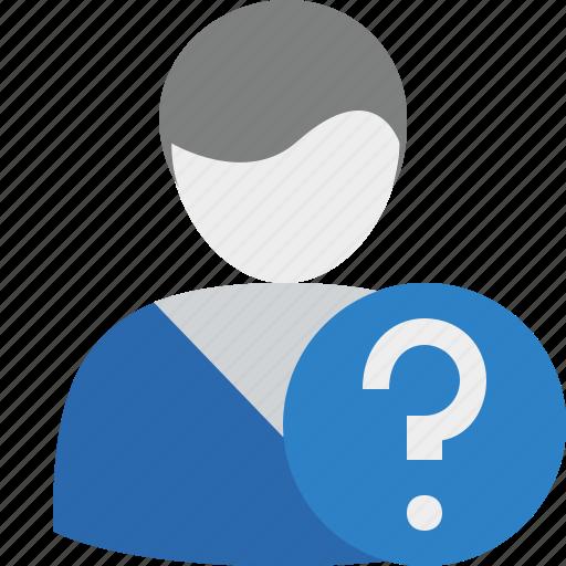 account, help, male, profile, user icon