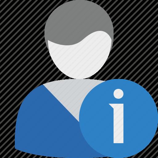 account, information, male, profile, user icon
