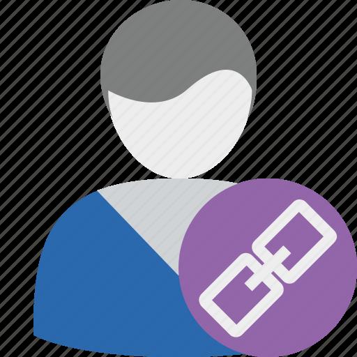 account, link, male, profile, user icon