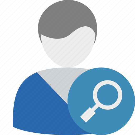 account, male, person, search, user icon