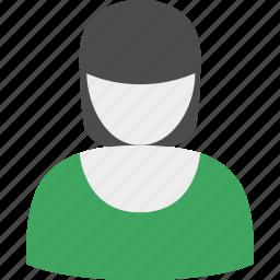 account, girl, profile, user, woman icon