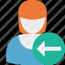 previous, user, woman, account, female, profile
