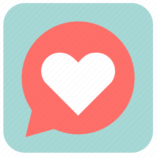 chat, heart, like, love, romantic, valentine, valentine's day icon