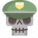 army, dictator, evil, general, skull, soldier, war icon