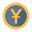 banking, china, chinese, coin, currency, money, yuan icon
