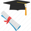 cap, education, history, qualification, school, student, study icon