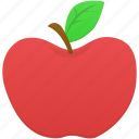 apple, eduation, food, fruit icon