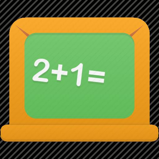 blackboard, count, learn, math, study, teach icon