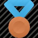 blue, bronze, metal, award, badge, prize, winner