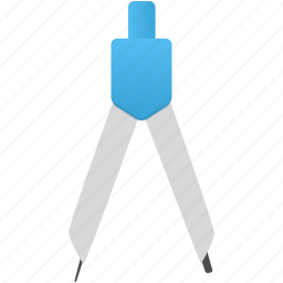 compasses, learn, math, study, tool, tools icon
