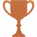 achievement, award, bronze, cup, prize, trophy, winner icon