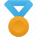 award, blue, gold, medal, metal, prize, winner icon
