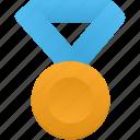 blue, gold, metal, award, medal, prize, winner